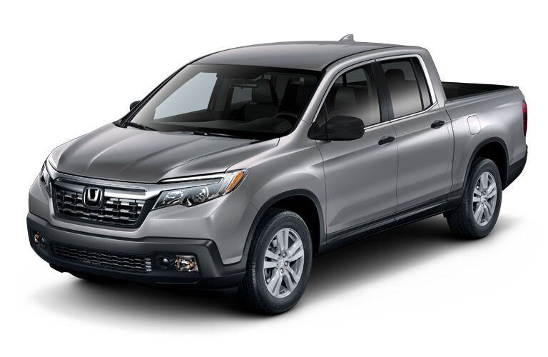 2019 Honda Ridgeline exterior front fascia and driver side on blank background