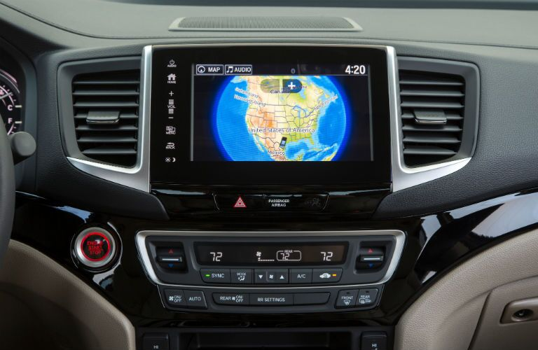 map on the screen of the 2019 Honda Ridgeline