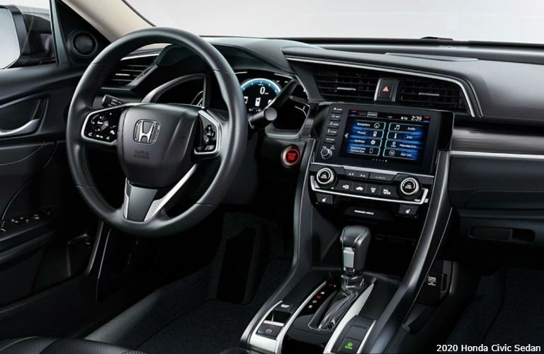 Interior view of 2020 Honda Civic