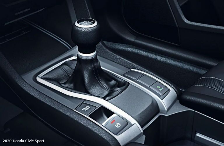 Gear shift in 2020 Honda Civic Sport