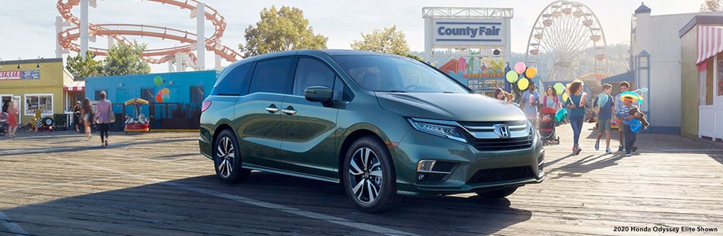 2020 Honda Odyssey parked in front of a county fair