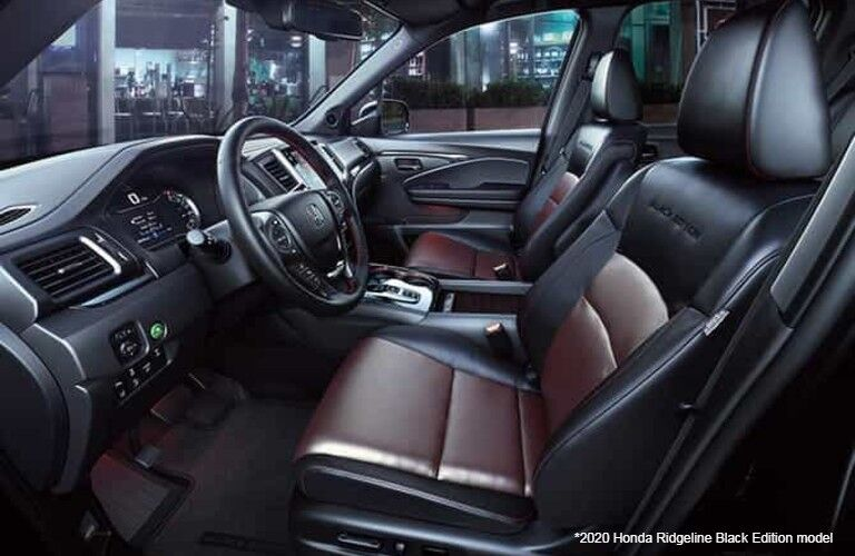 Interior view of 2020 Honda Ridgeline Black Edition model