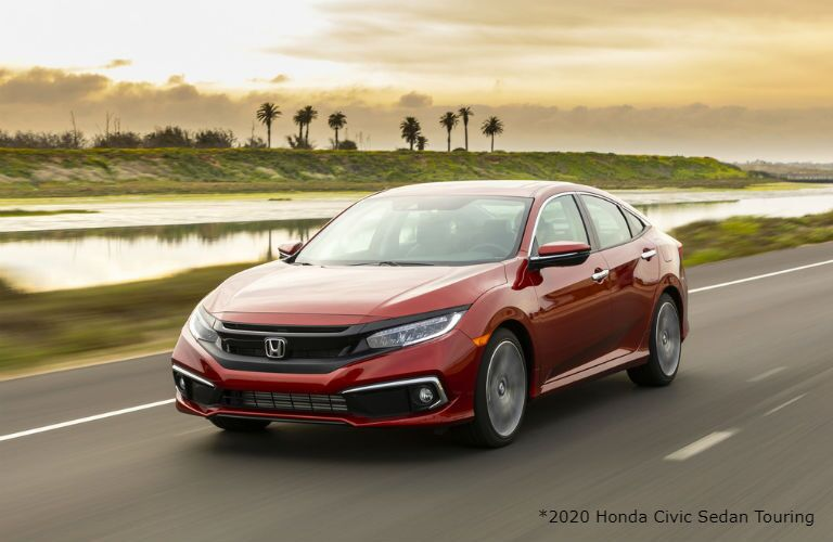Red 2020 Honda Civic Sedan Touring