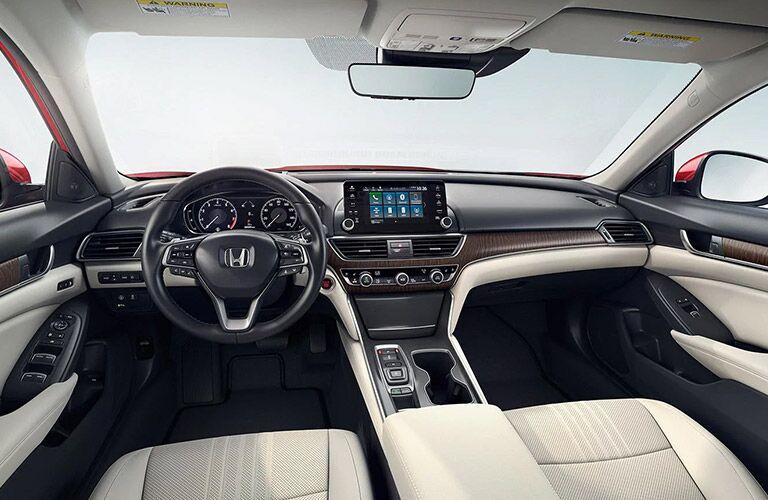 Interior view of 2021 Honda Accord