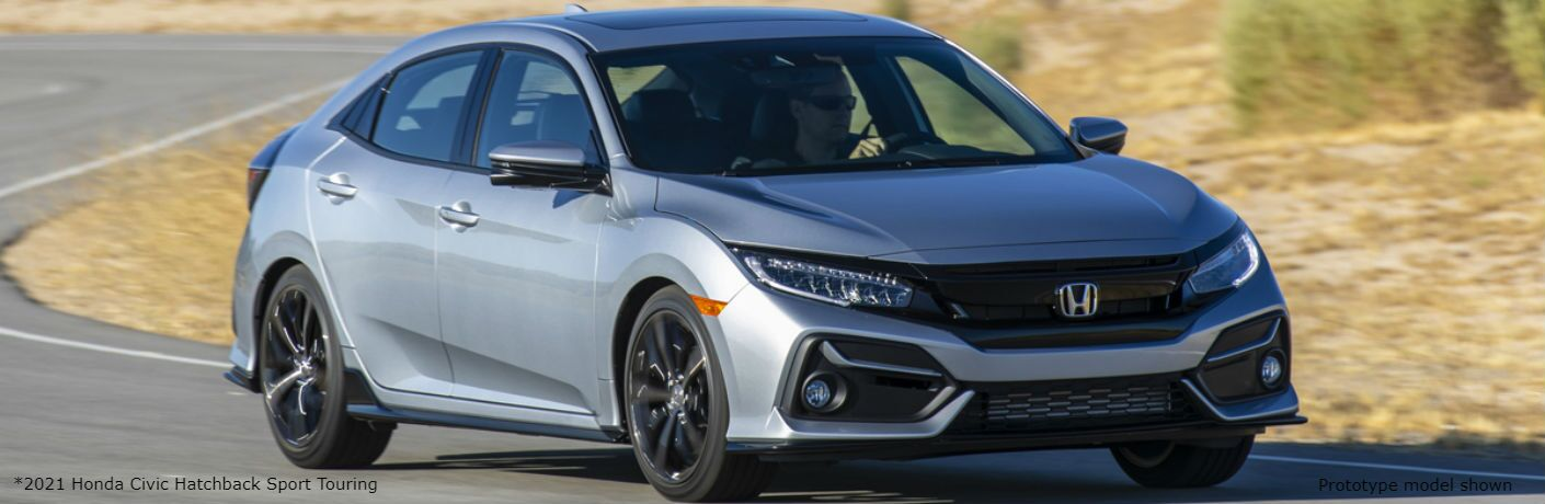 Silver prototype 2021 Honda Civic Hatchback Sport Touring