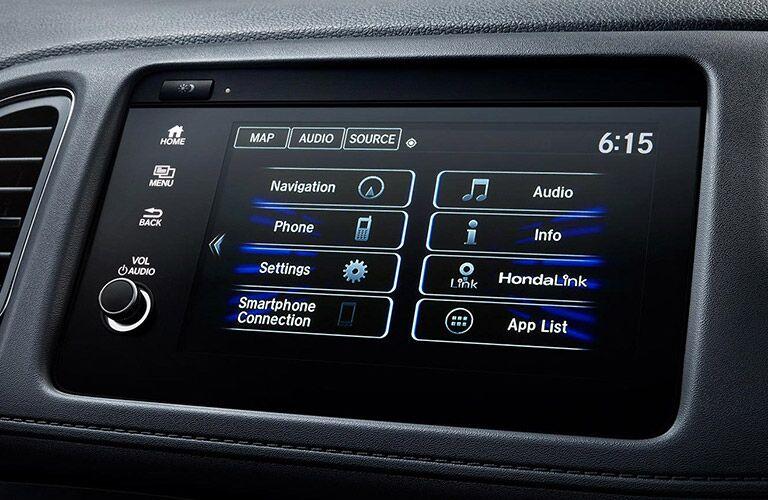 Infotainment screen in 2021 Honda HR-V