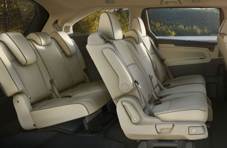 Rear seats in 2021 Honda Odyssey