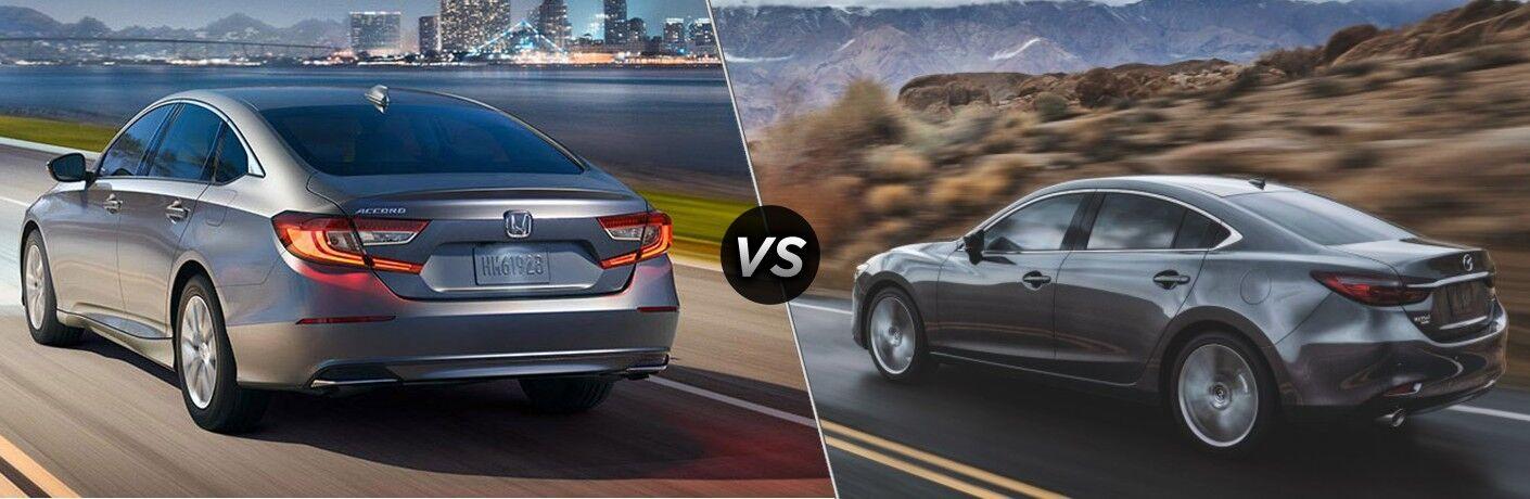 Silver 2021 Honda Accord and silver 2021 Mazda6