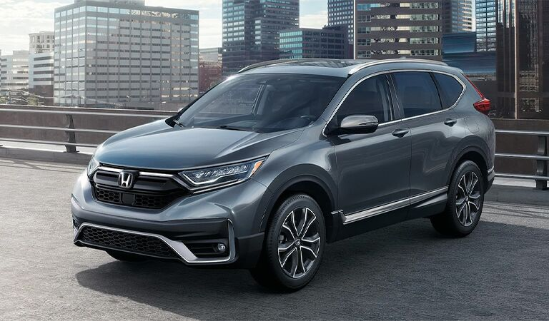 2018 Honda CR-V exterior front fascia and passenger side in empty parking lot