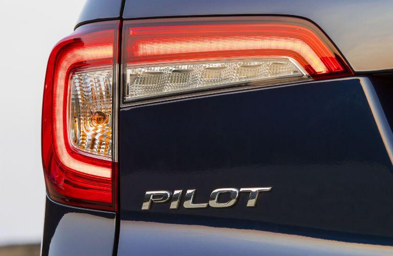 Closeup of badge on 2021 Honda Pilot