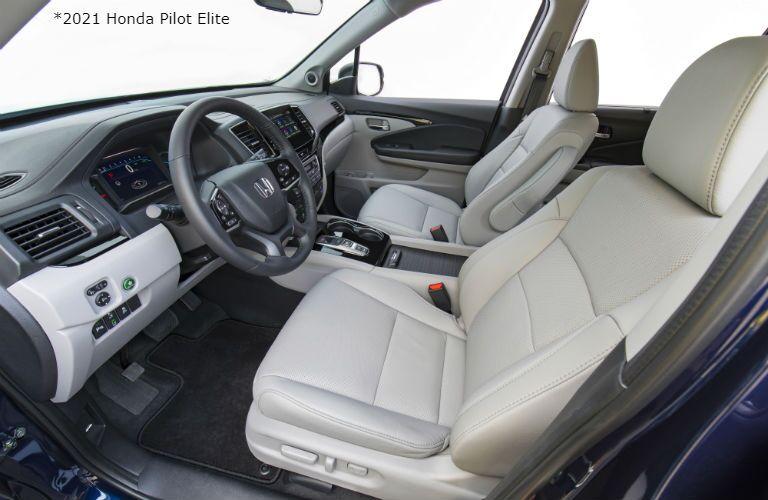 Front seats in 2021 Honda Pilot Elite