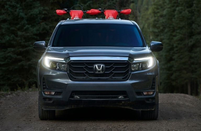 Front view of gray 2021 Honda Ridgeline