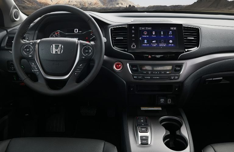 Steering wheel and dashboard in 2021 Honda Ridgeline