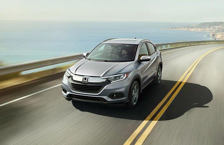 2022 Honda HR-V Modern Steel Metallic moving on the road