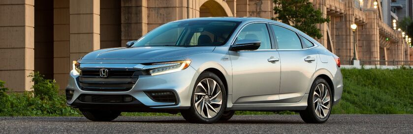 2022 Honda Insight Gray parked on the side of the road