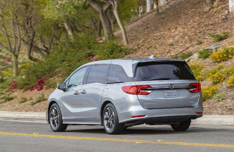 Rear view of gray 2022 Honda Odyssey