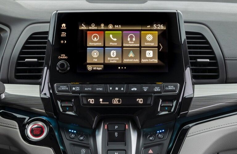 Infotainment center in 2022 Honda Odyssey