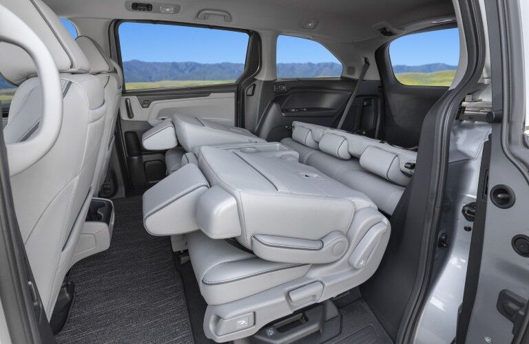Folded rear seats in 2022 Honda Odyssey