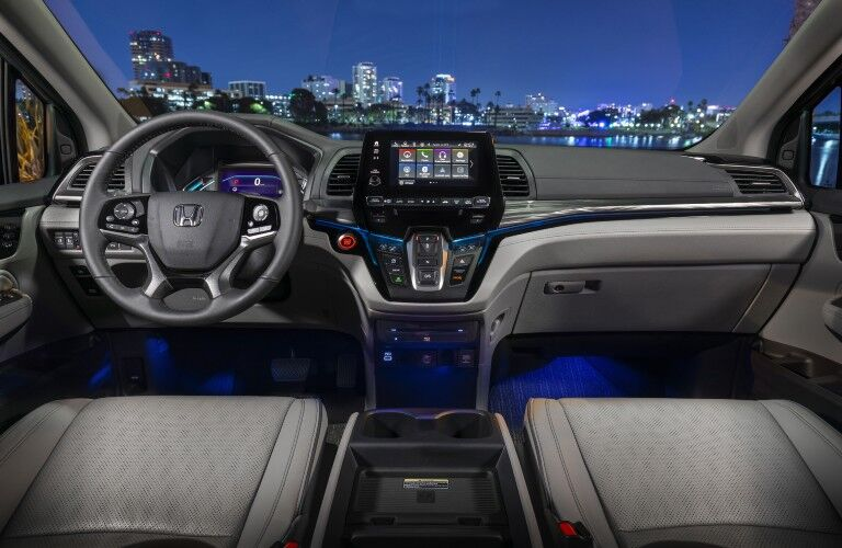 Steering wheel and dashboard in 2022 Honda Odyssey