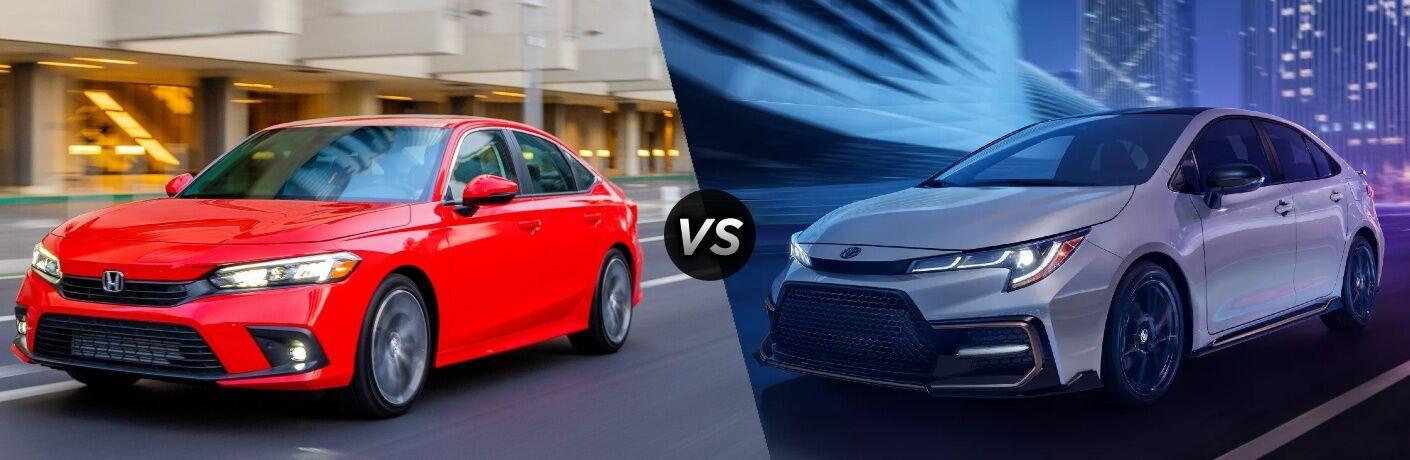 2022 Honda Civic vs 2022 Toyota Corolla