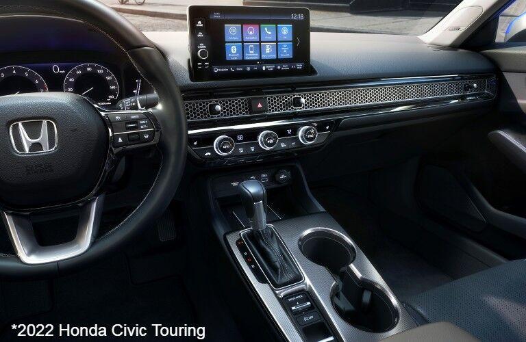 Interior view of 2022 Honda Civic Touring