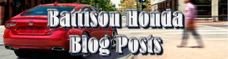 "the words ""Battison Honda Blog Posts"" with a Honda and a city in the background"