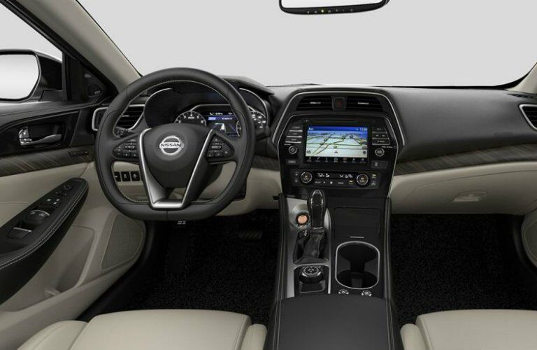 2017 Nissan Maxima interior steering wheel and dashboard