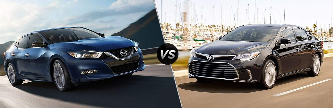 2017 Nissan Maxima and 2017 Toyota Avalon exteriors