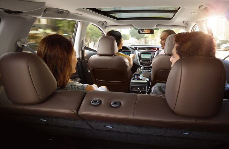 Family sitting inside 2017 Nissan Murano