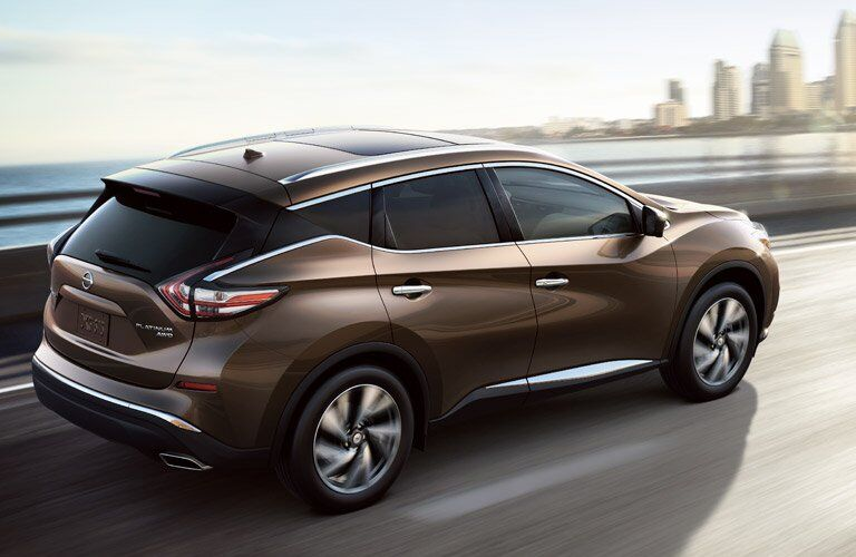 brown 2017 Nissan Murano exterior side rear