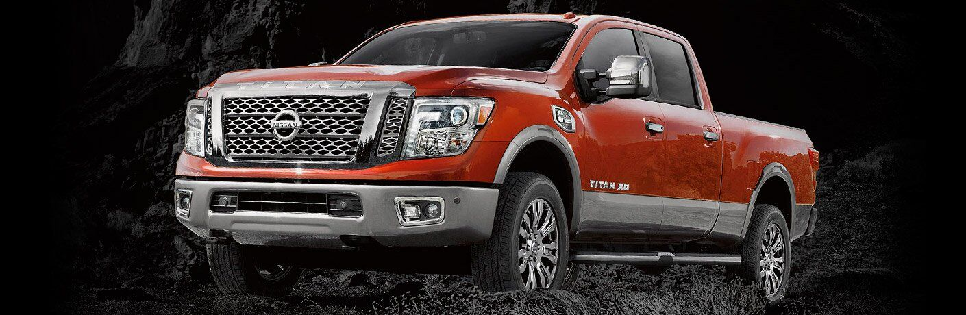 red 2017 Nissan Titan XD exterior front