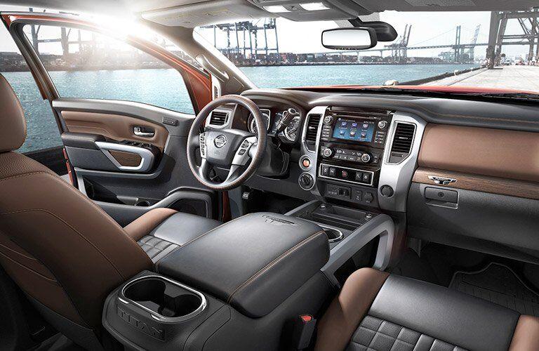 2017 Nissan Titan XD interior front cabin area