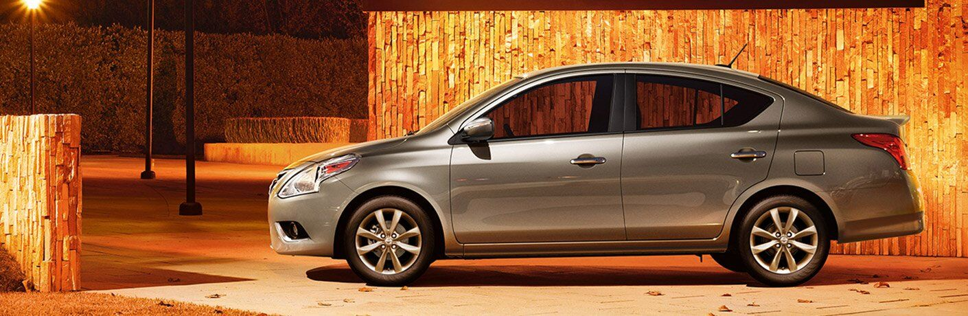 gray 2017 Nissan Versa exterior side view