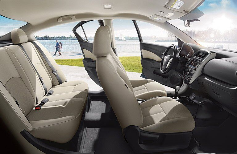 2017 Nissan Versa seats from side