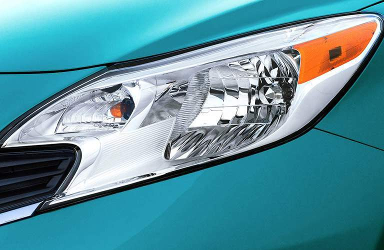 closeup of 2017 Nissan Versa Note headlight