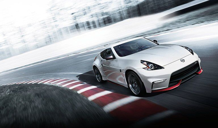 white 2017 Nissan 370Z on race track