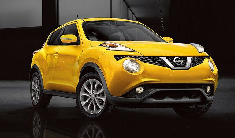 yellow 2017 Nissan Juke exterior front