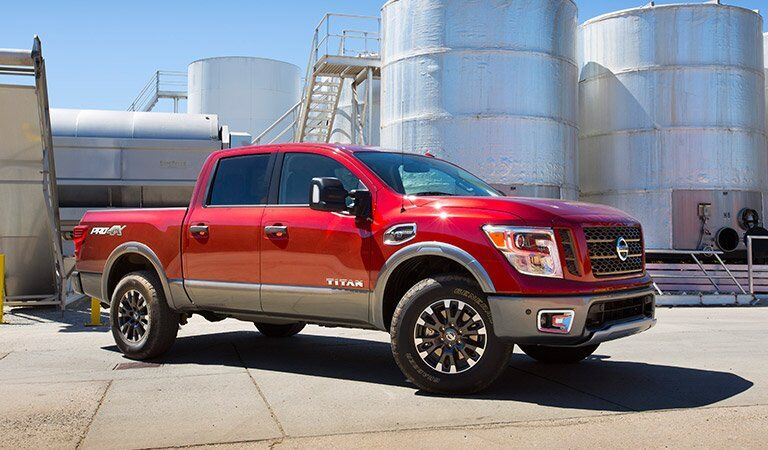red 2017 Nissan Titan exterior side front