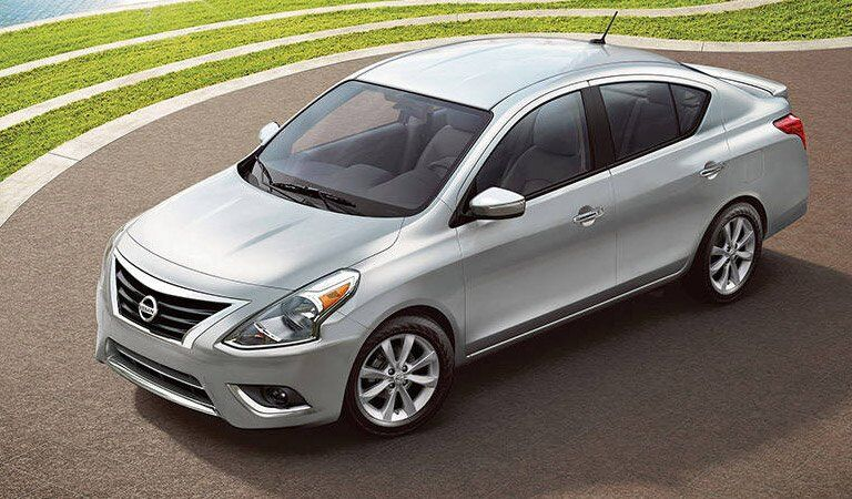 silver 2017 Nissan Versa exterior front top view