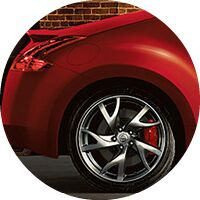 red 2017 Nissan 370Z Coupe rear wheel