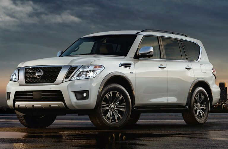 white 2017 Nissan Armada exterior front side view