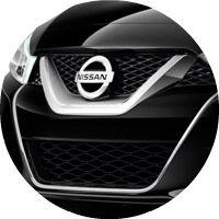 black 2017 Nissan Maxima front grille closeup