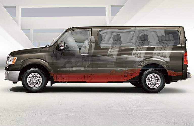 2017 Nissan NV Passenger exterior side see-through