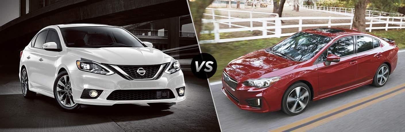 2018 Nissan Sentra vs 2018 Subaru Impreza
