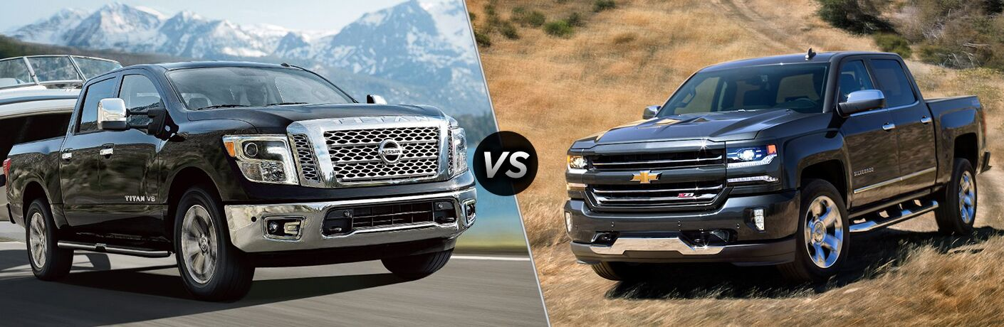 2018 Nissan TITAN vs 2018 Chevy Silverado Comparison Image