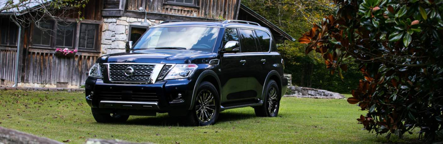 2018 Nissan Armada Platinum Reserve parked on lawn