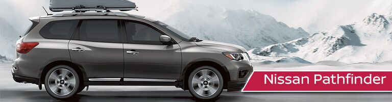 gray Nissan Pathfinder side view