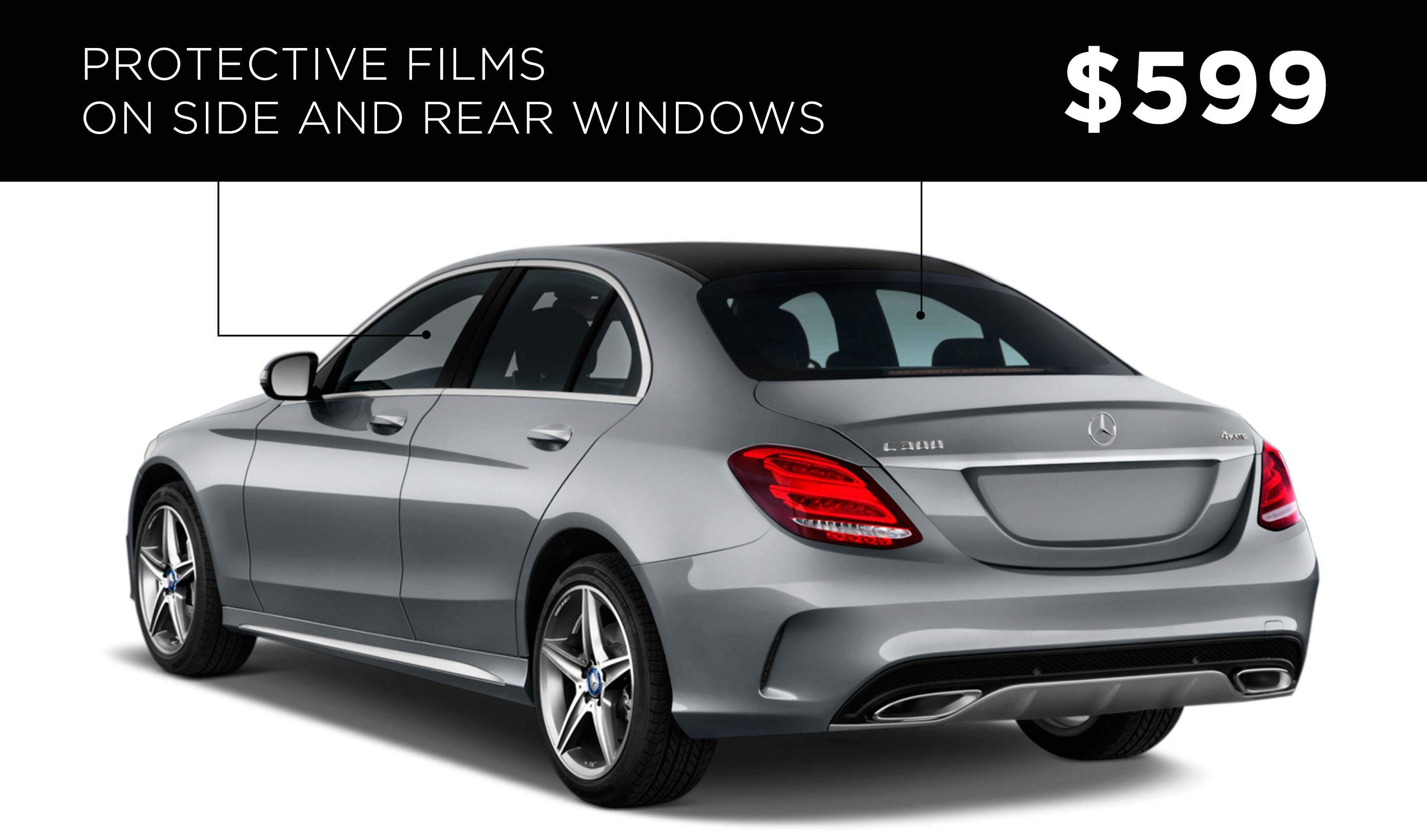 Protective Films on Side and Rear Windows