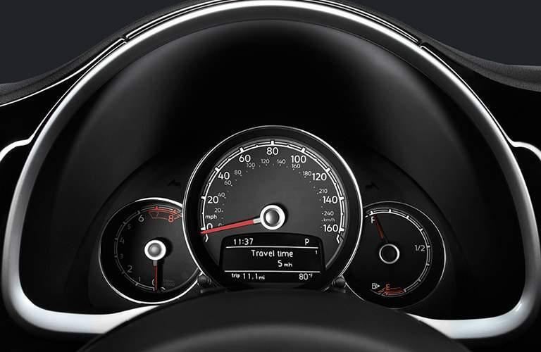 2018 Volkswagen Beetle speedometer close-up