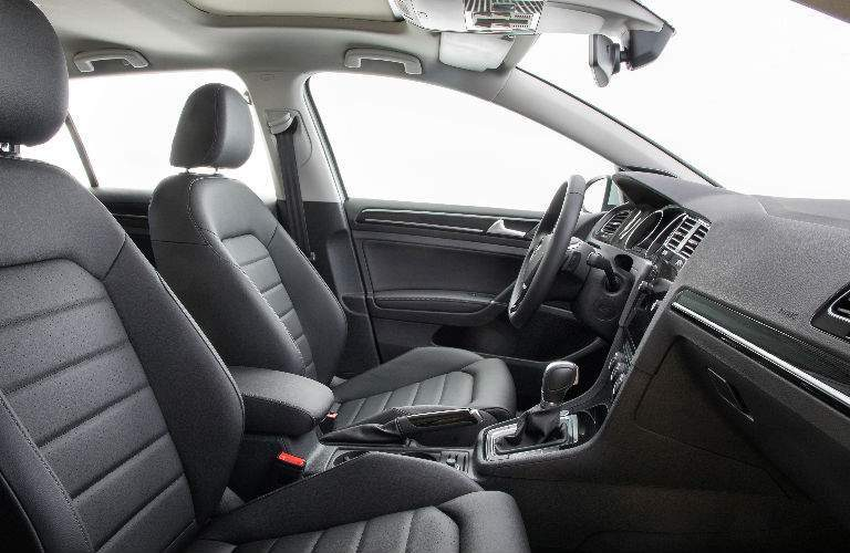 2018 Volkswagen Golf front seat from passenger door perspective